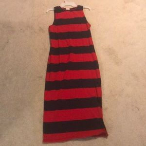 Navy/Red rugby stripe tank dress